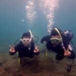 体験ダイビングで秋の海を満喫!