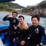 平日のライセンス取得コースは男祭りダイビングでした~